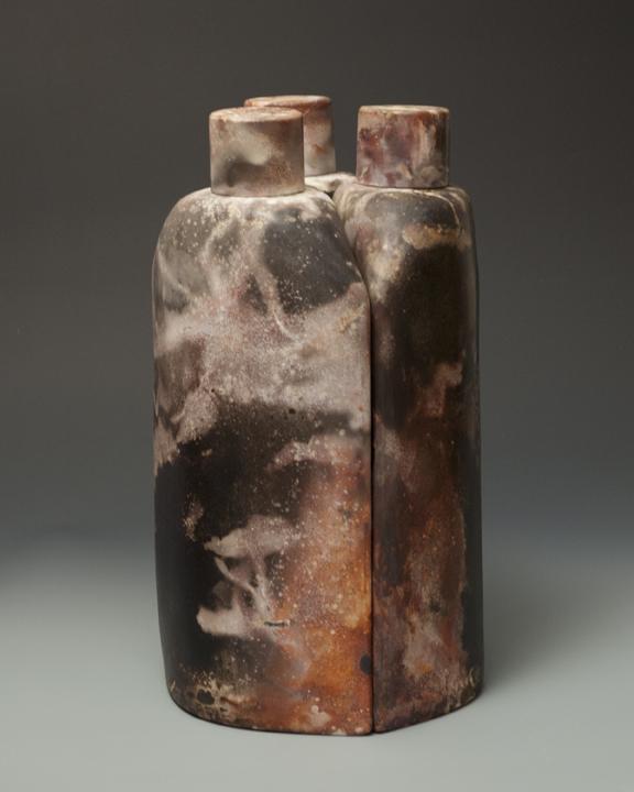 "2012 16"" x 8 1/2"" x 4 3/4"" each Slip cast porcelain, aluminum foil saggar fired"